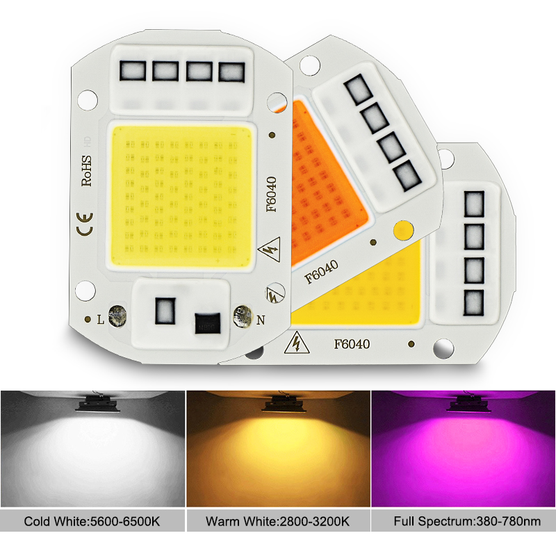 LED Grow COB Chip Phyto Lamp Full Spectrum AC220V 10W 20W 30W 50W For Indoor Plant Seedling Grow and Flower Growth Fitolamp 5