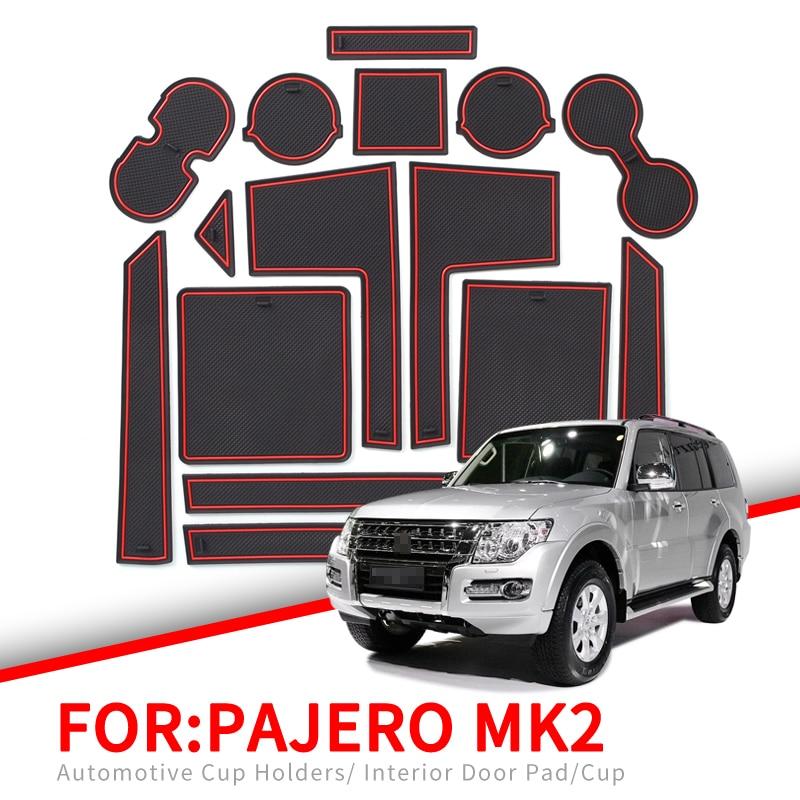 ZUNDUO Anti-Slip Gate Slot Cup Mat For Mitsubishi Pajero MK2 Accessories Rubber Cup Holders Non-slip Mats Coaster Car Sticker