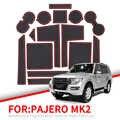 ZUNDUO Anti-deslizamiento puerta estera de la ranura para Mitsubishi Pajero 2019 2020 MK2 accesorios de caucho de la copa no-Slip esteras de Montaña Rusa pegatinas