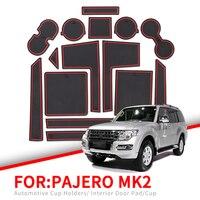 Zunduo anti deslizamento porta entalhe copo esteira para mitsubishi pajero mk2 acessórios suportes de copo de borracha antiderrapante tapetes coaster carro adesivo|  -