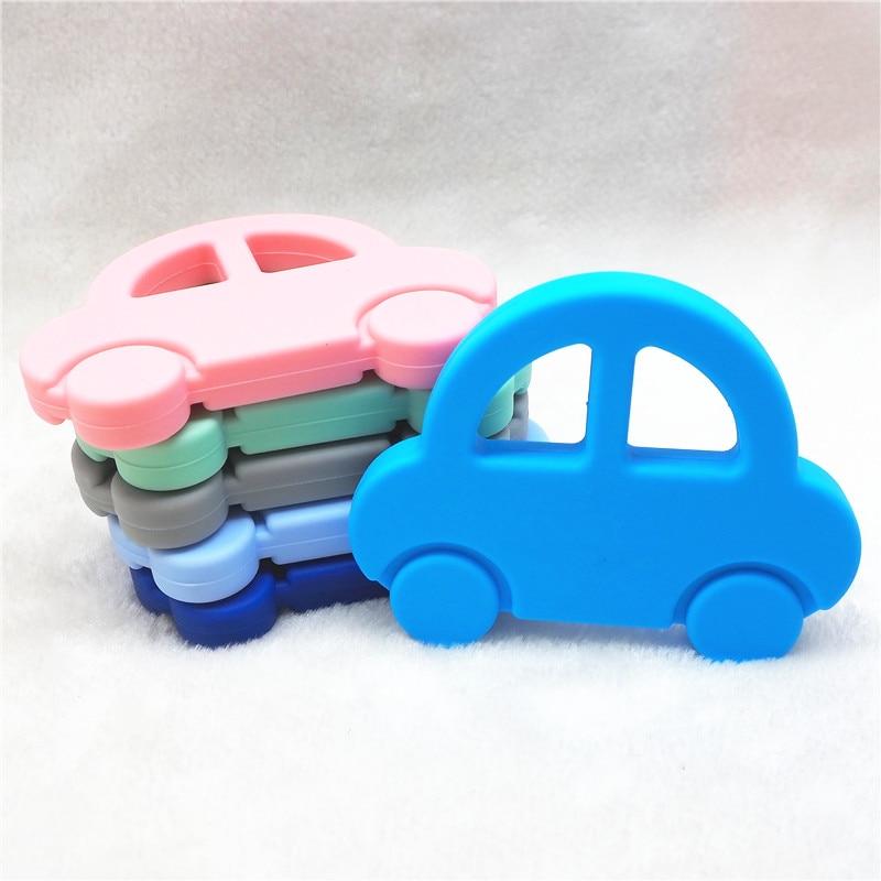 Купить с кэшбэком Chenkai 10PCS Silicone Biscuit Teether DIY Baby Oreo Cookie Pendant Pacifier Dummy Nursing Sensory Teething Toy Gift BPA Free