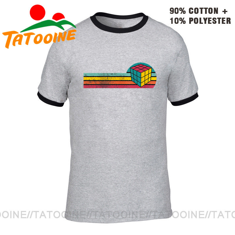 Tatooine Vintage Style Rubik Magic Cube T shirt Best Gift for Teenage Boys Retro Magic Square T-shirt 2020 Latest Summer Apparel