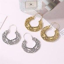 retro  classic pierced totem earrings fashion pattern geometric vintage bohemian indian jewelry