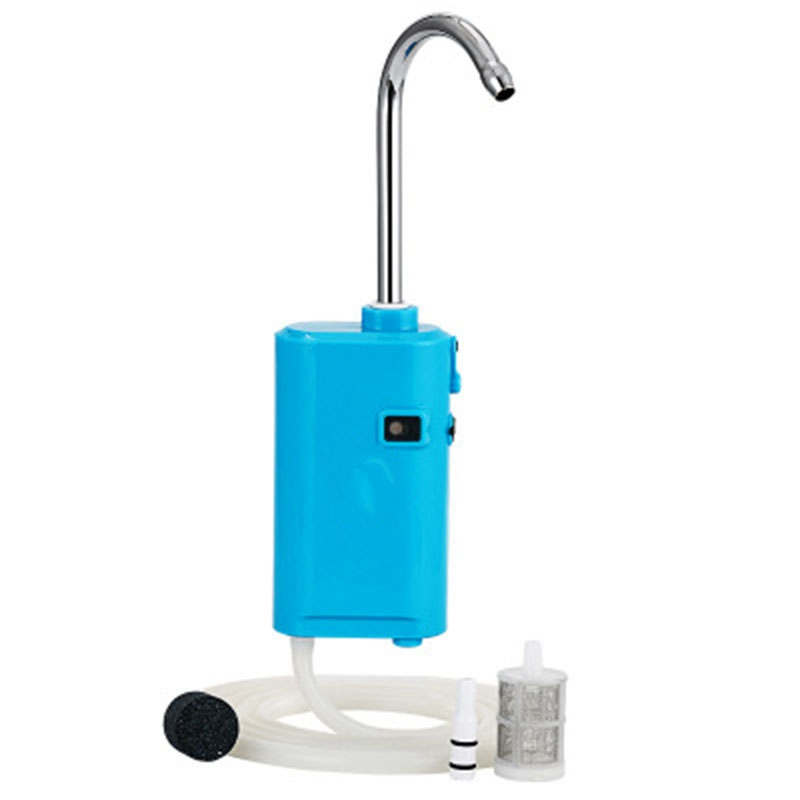 Outdoor Induction Fishing Water Dispenser Automatic Bubbles Pumping Fish Aeration Lamp Fishing Water Convenience(Blue)