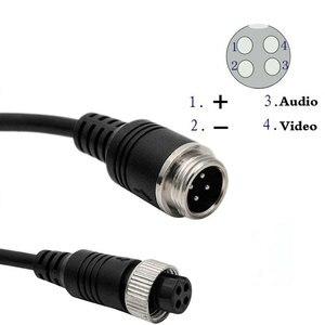 4-контактный авиационный видео удлинитель 1 м 2 м 3 м 5 м 6 м 7 м 8 м 10 м 15 м 20 м для CCD камеры заднего вида Camper Trailer