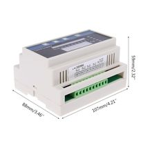 4-20mA DC Water Liquid Level Pressure Controller with 4-ways Relay DC24V Output pressure controller switching relay kp15 060 1241