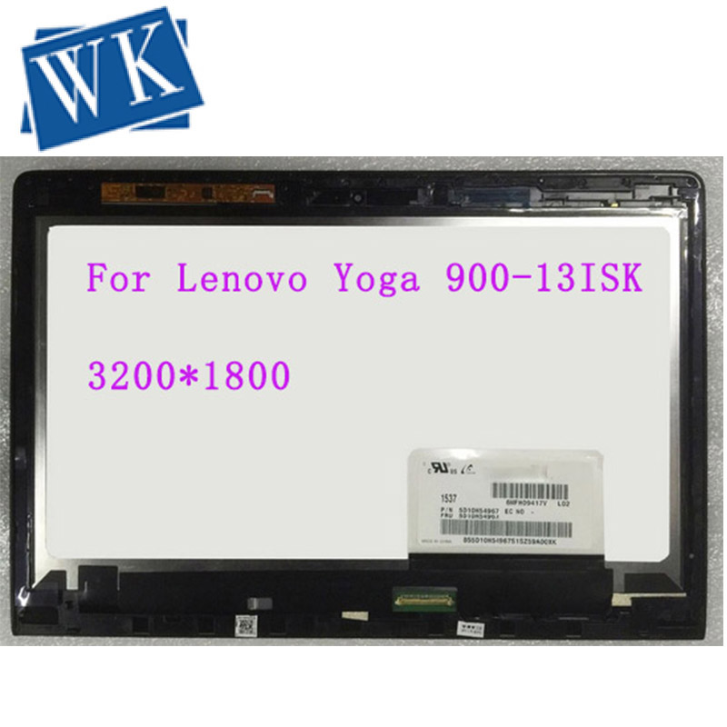 "13.3"" LCD LED Laptop Assembly For Lenovo Yoga 900-13ISK 80MK LCD Touch screen 3200X1800 digitizer Panel replacement"