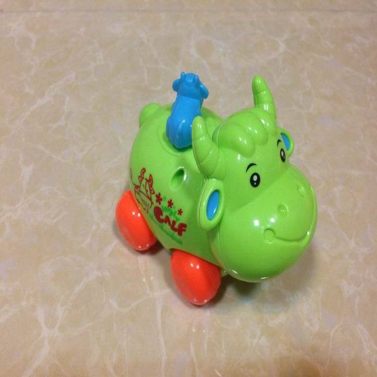 Children'S Educational Toy Spring-Winding Toy Cartoon Plastic Toy Chain Cartoon Cattle