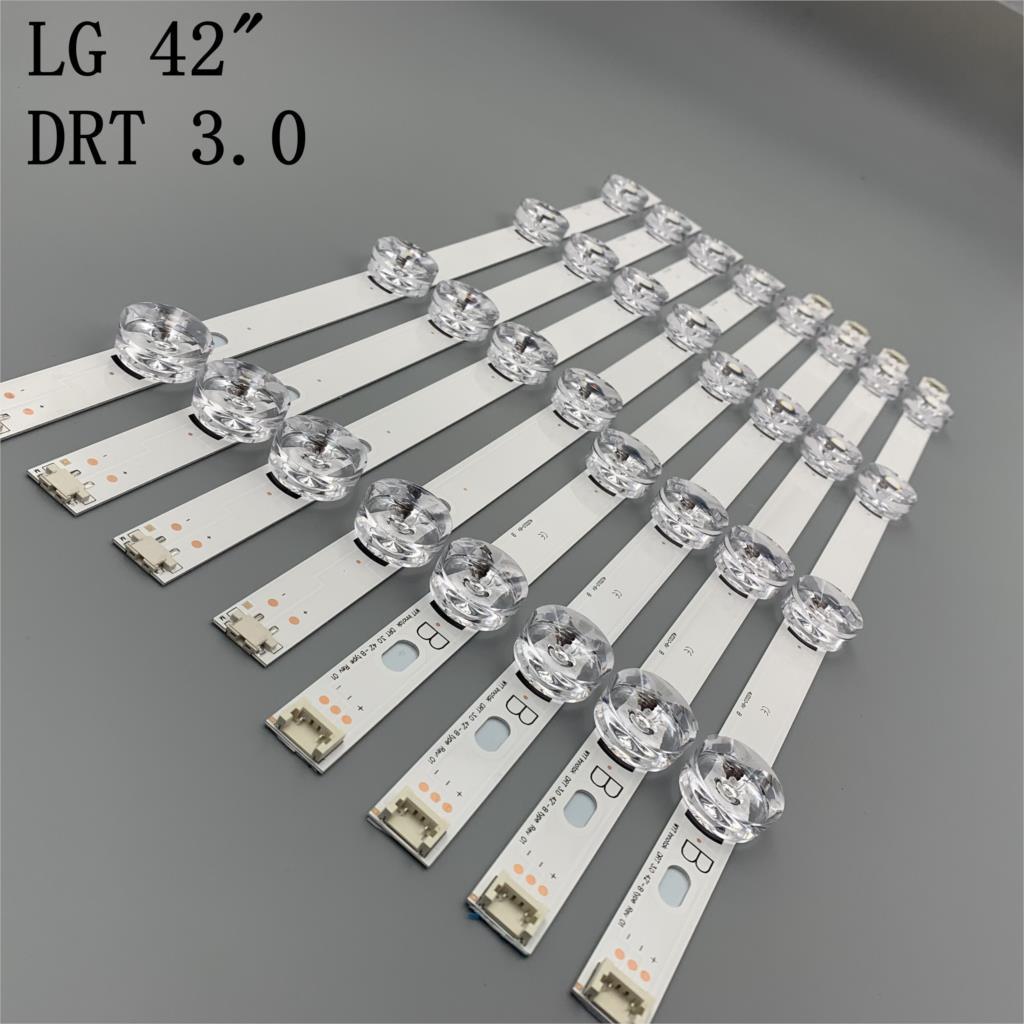 새로운 8 개/대 LED 스트립 교체 LG LC420DUE 42LB5500 42LB5800 42LB560 INNOTEK DRT 3.0 42 인치 A B 6916L-1710B 6916L-1709B