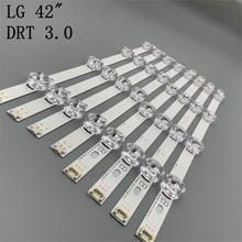 Nouveau 8 pièces/ensemble LED bande de Remplacement pour LG LC420DUE 42LB5500 42LB5800 42LB560 INNOTEK DRT 3.0 42 pouces A B 6916L 1710B 6916L 1709B
