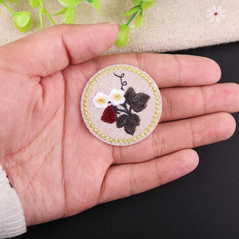 1 PCSรอบดอกไม้แพทช์การ์ตูนเหล็กบนสติกเกอร์สำหรับเสื้อผ้าคุณภาพสูง 3D DIYปักลาเวนเดอร์ป้ายparches