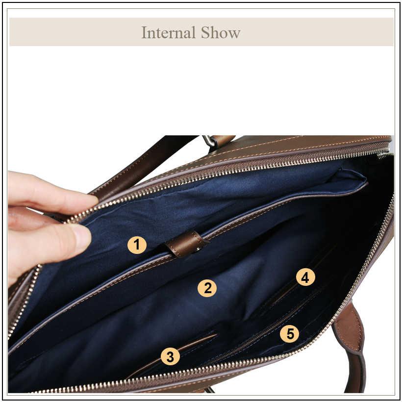 Avro의 MODA 정품 가죽 가방 서류 가방 남성용 고품질 비즈니스 어깨 남성 핸드백 메신저 노트북 토트 백 2020