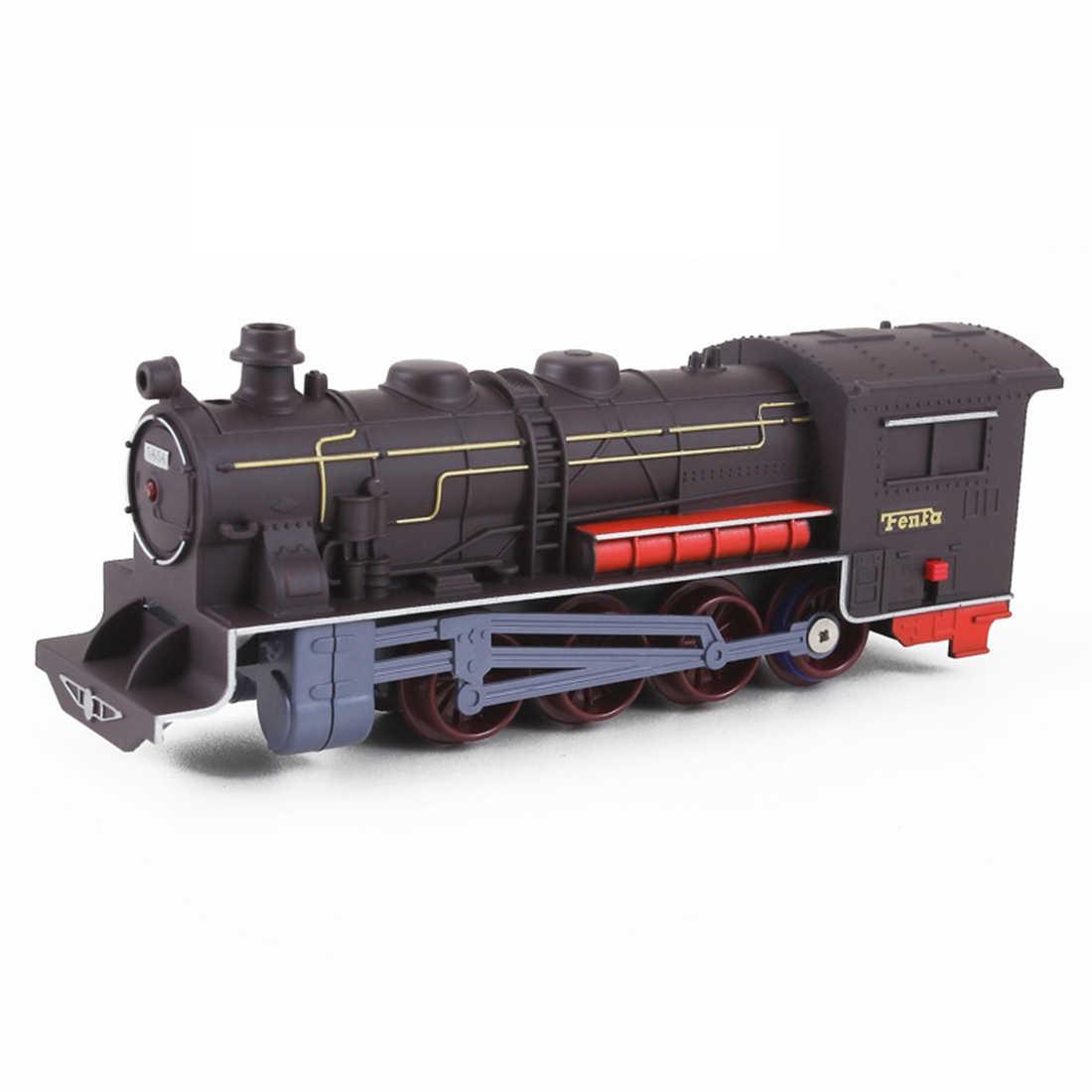 Skala HO 1: 87 Model stołu piaskowego symulowany klasyczny Model lokomotywy ze światłem i dźwiękiem zabawka edukacyjna prezent dla dzieci Kid