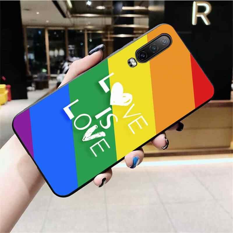 게이 레즈비언 LGBT 레인보우 프라이드 사용자 정의 사진 소프트 전화 케이스 화웨이 P40 P30 P20 라이트 프로 메이트 20 프로 P 스마트 2019 프라임