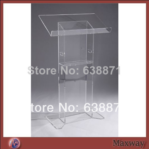 Free Shiping Hot Sell Floor Standing Transparent Acrylic Lectern Acrylic Podium / Pulpit / Lectern