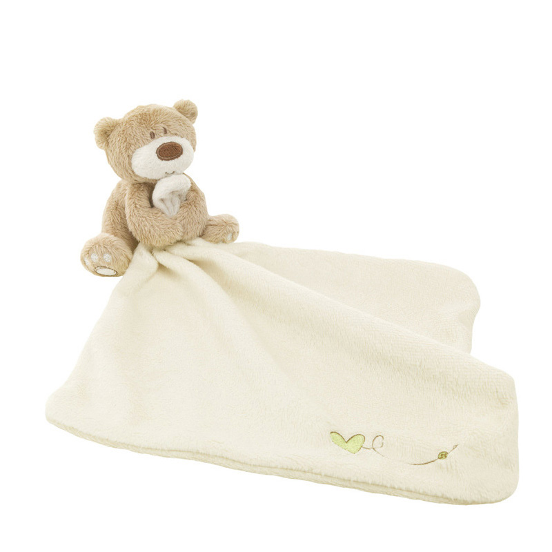 Baby Bear Doll Appease Towel Baby Calm Wipes Comfort Plush Scarf Saliva Towel  Baby Close Toys  Towel Blanket Cute Doll