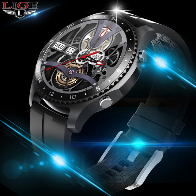 LIGE 2020 New Smartwatch full touch Screen IP67 waterproof Sports fitness watch electronic Luxury smart watch Bluetooth call+box