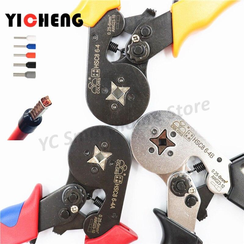 HSC8 6 4 European tubular insulated terminal crimping pliers needle cold crimping terminal crimping pliers|Pliers| |  - title=