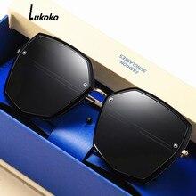 LUKOKO sunglasses women 2020 Polarized brand designer summer shades for women uv