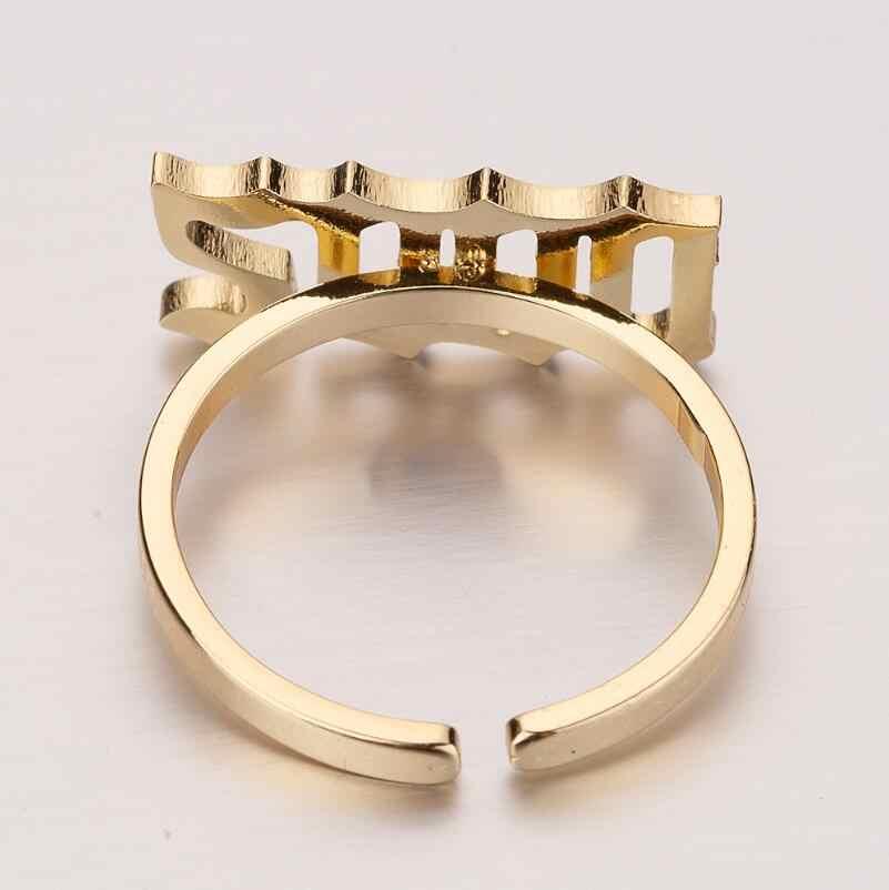 Jisensp แหวนสแตนเลสดิจิตอลปีโดยเฉพาะสแตนเลสแหวนแฟชั่นเครื่องประดับสำหรับผู้หญิงที่ระลึกของขวัญ