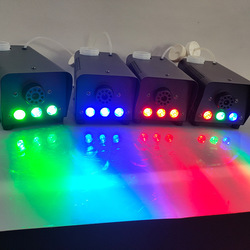 Wireless Control LED 400W Fog Smoke Machine Remote RGB Color Smoke Ejector LED DJ Party Stage Light Smoke Thrower(EU Plug)