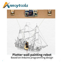 Drawing Wall Painting Robot Arduino Maker Project Kit with Cable Plotter DIY Toy Parts DIY Maker Parogram Project Kit