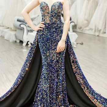 Vintage Evening Dresses Long Robe de Soiree Abendkleider 2019 Sexy High Split Backless Prom Dress A Line Evening Gowns - DISCOUNT ITEM  12% OFF All Category