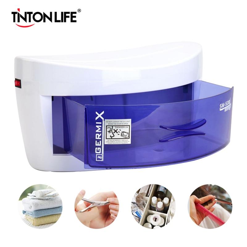 220V EU Plug UV Sterilizer Disinfection Cabinet Ultraviolet Light Sterilization Manicure Tools Household UV Sterilizezation Box 1
