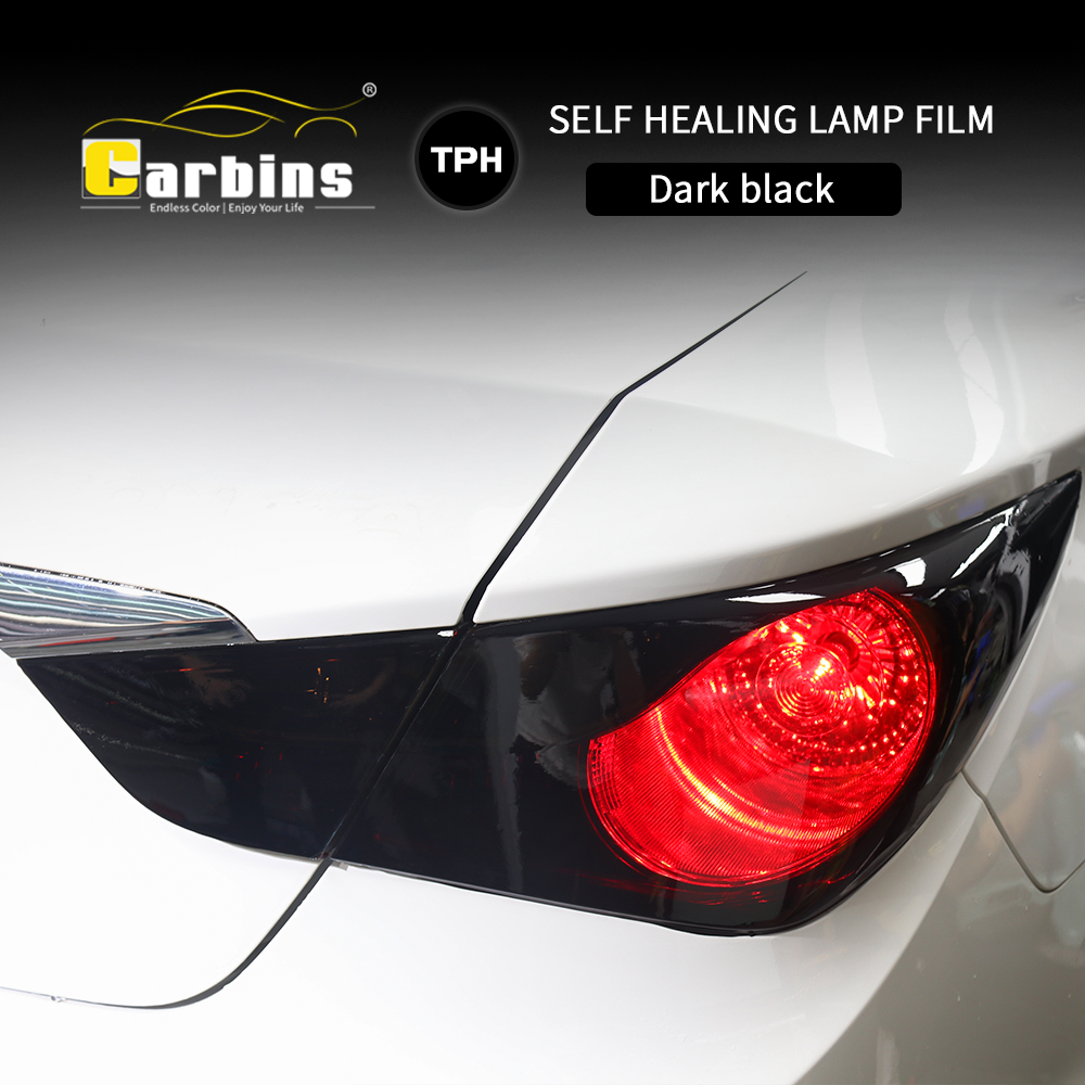 Image 3 - CARBINS Self healing PPF Headligt Film Smoke Black Tint Film for Cars LED  Protection Anti Scratches Super Clear 4 Colors sale-in Car Stickers from Automobiles & Motorcycles