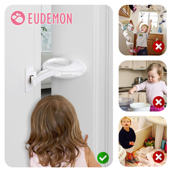 EUDEMON Baby Safety Door Stopper/ door lock Child Safety Lock Finger Pinch Guard Prevent Door Injuries for Kids or Pets new and original guard lock safety door switch d4gl 4afa a
