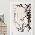 Традиционные китайские чернила стиль бамбуковая занавеска для двери кухня занавеска ванная комната спальня фэн шуй занавес двери японский...