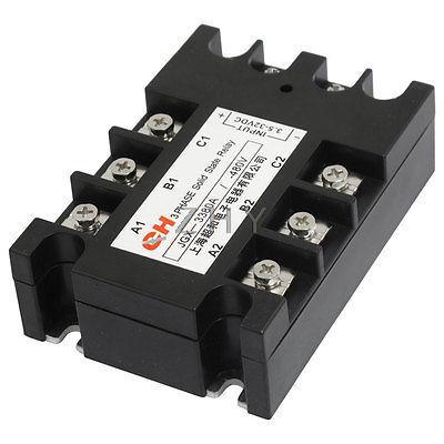 Relais à semi-conducteurs cc à AC 3 phases SSR 3.5-32VDC 9-30mA 480VAC 80A