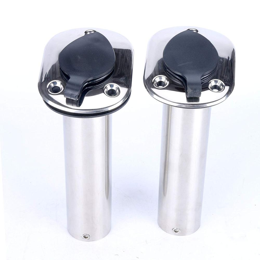 Gasket Tube Liner 4PCS 304 Stainless Steel 90Degree Rod Holder with Rubber Cap