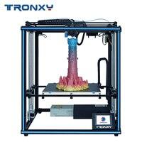 Najnowszy 24V wersja Tronxy X5SA 400/X5SA 3D drukarki DIY zestaw Auto Leveling czujnik żarnika wznowić druku kostki w całości z metalu placu w Drukarki 3D od Komputer i biuro na