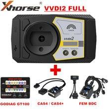 Xhorse VVDI2 pełna wersja wszystkie 13 klucz programujący oprogramowanie V6.8.2 PLUS GODAIG GT100 i dla BMW FEM BDC/CAS4 CAS4 + platforma testowa