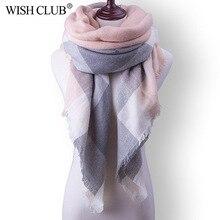 WISHCLUB Для женщин зимний шарф для Для женщин кашемировый шарф и шаль Для женщин Одеяло тёплый шарф-шаль Поддержка оптом и в розницу