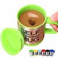 400ml canecas automático elétrico preguiçoso selfcup café leite caneca de mistura inteligente aço inoxidável suco mix copo drinkware canecas de café|Can.|   -
