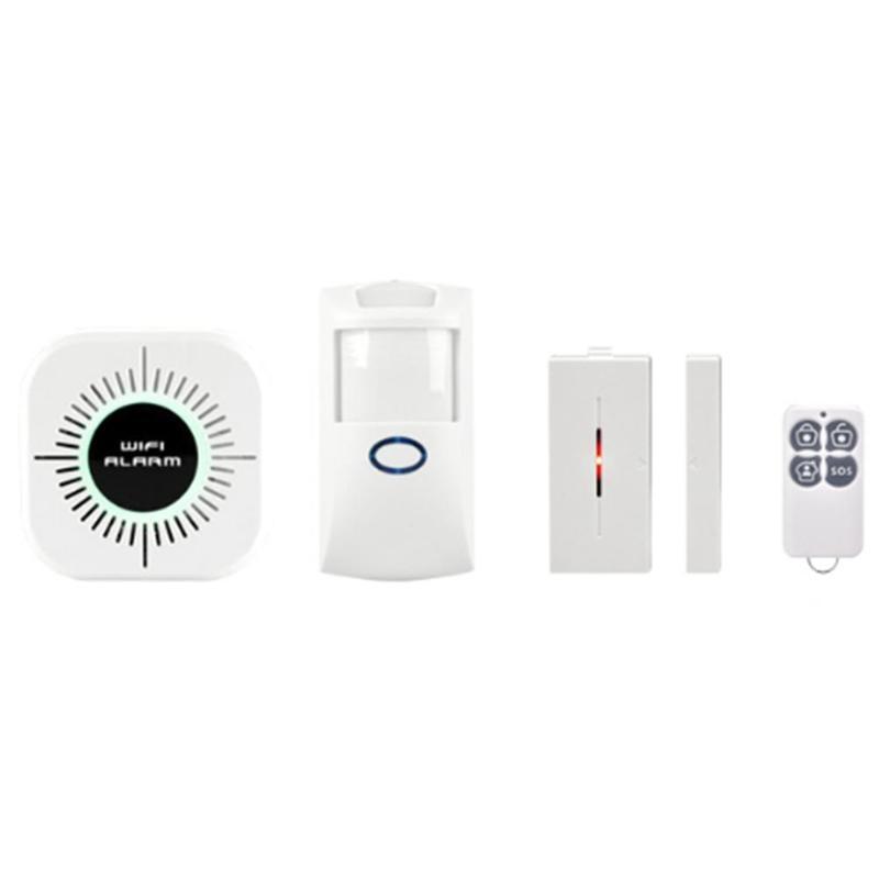 Wi fi inteligente sistema de alarme de segurança do assaltante em casa pir detector de movimento app controle sensor alarme detector de fumaça incêndio novo