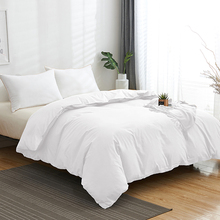 1Pc Duvet Cover 100% Cotton Fabric Solid Color Quilt Cover Twin King Queen Size Comforter Cover 160x210 200x200