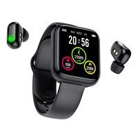 Reloj inteligente TWS, auriculares inalámbricos 2 en 1 con Bluetooth, banda deportiva para llamadas y música, para teléfono Android IOS