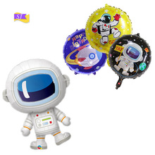 Science Fiction Theme Spaceman Balloon Boy Astronaut Shaped Aluminum Film Space Birthday Party Decoration