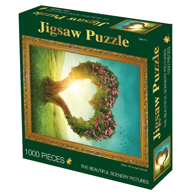 MaxRenard Jigsaw Puzzles 1000 Pieces 50*70cm The Kiss Wooden Assembling Painting World Masterpiece Puzzles Toys for Adults Games 27