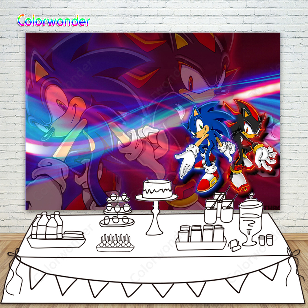Fabricant De Decoration Portugal photo backgrounds sonic with shadow the hedgehog backdrops