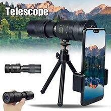 Монокулярный телескоп 4k 10-300x40 мм, Портативный монокулярный зум ночного видения, оптический охотничий прицел Spyglass