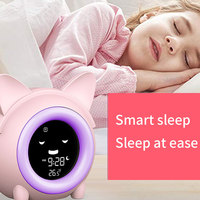 Kids Kind Wekker Slaap Training Klok Kleurrijke Nachtlampje Digitale Wakker Klok Met Temperatuur Dutje Timer Voor Slaapkamer