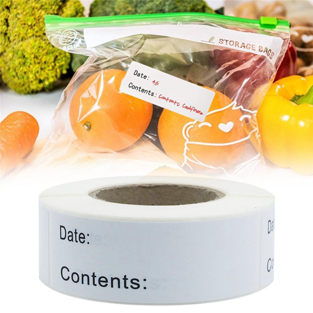 125pcs Kitchen food date stickers date content Sticker for Package Mailing Supplies Special Day Favors Labels 1