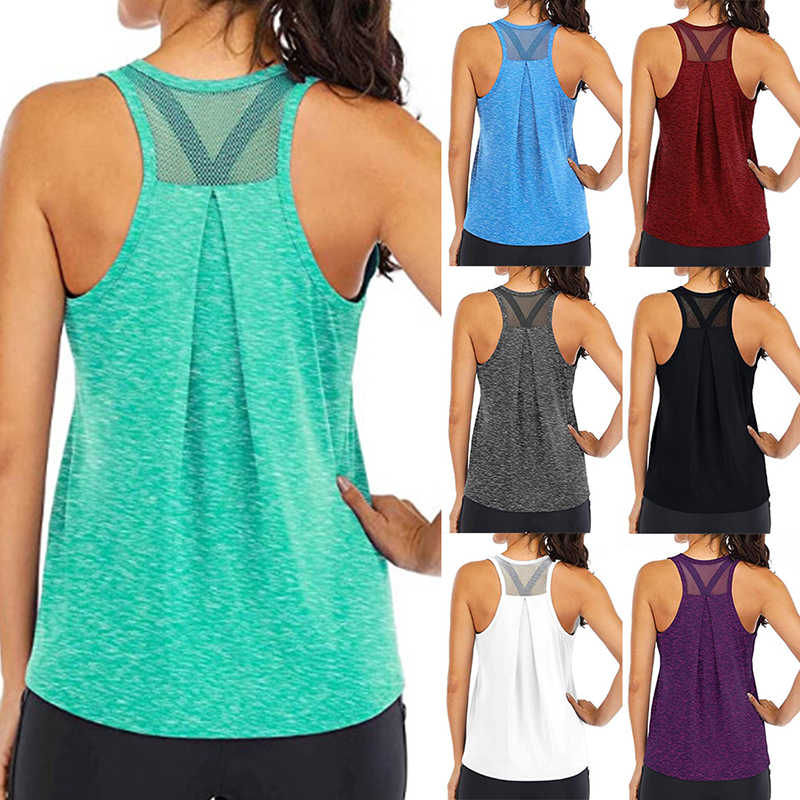 Yoga Vest Vrouwen Running Shirts Mouwloos Gym Tank Tops Vrouwen Sportkleding Quick Dry Ademende Workout Tank Top Fitness Kleding