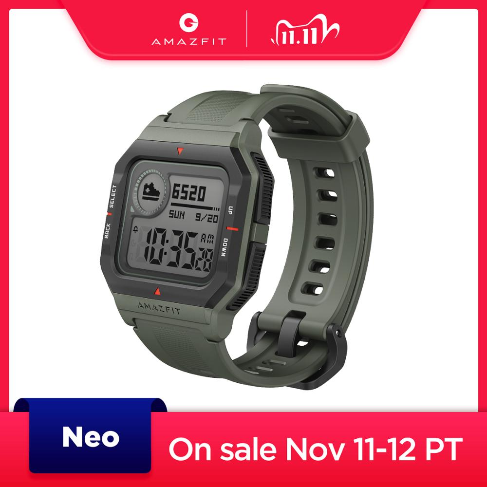 Amazfit Neo Smart Watch 28 Days Battery Life Bluetooth Smartwatch 3 Sports Modes 5ATM Pai Health Assistant For Android IOS Phone