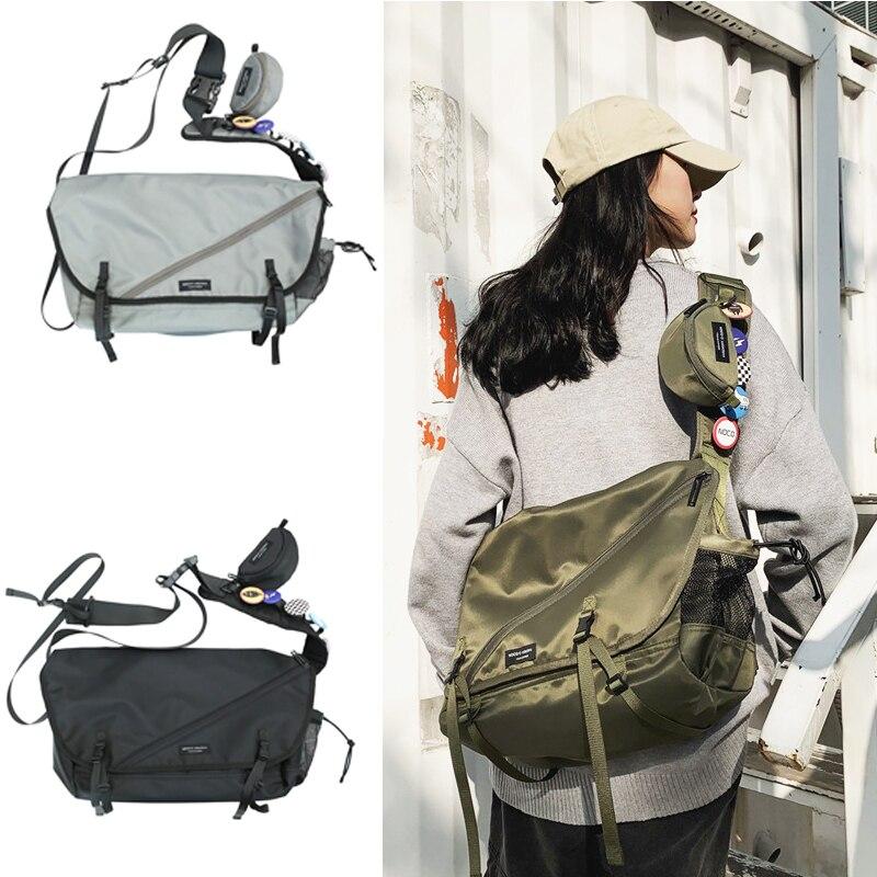 Casual Waterproof Street Sports Tooling Bag Student Leisure Crossbody Messenger Bag Hip-hop Tide Shoulder Bag