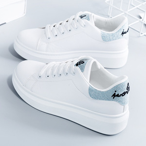 Image 2 - SWYIVY Spring Shoes Woman Platform Sneakers White 2020 New Female Casual Shoes On Chunky Heel White Shoes For Woman Sneaker